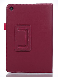 Voor case cover met standaard flip full body case solide kleur zacht pu leer voor asus zenpad8.0 z380c / m p024 z380kl / knl