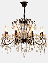 cheap -LightMyself 8 Lights Crystal Chandelier Modern/Contemporary Traditional/Classic Rustic/Lodge Vintage Retro Country Painting Feature for LED Metal