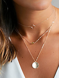 cheap -Women's Choker Necklace Layered Necklace - Pendant Basic Gold Silver Necklace For Wedding Party Anniversary Birthday Graduation Gift