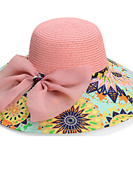Rainbow Summer Straw Hat Cap Beautiful Flower Girl&lady Round Wide Brim Hawaii Folding Soft Sun Hat Casual Foldable Brimmed Beach Hats