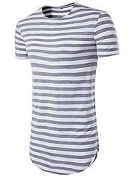 cheap -Men's Sports Street chic Slim T-shirt - Striped Round Neck
