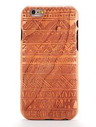 economico -Custodia Per iPhone 6s iPhone 6 Apple Fantasia/disegno Decorazioni in rilievo Per retro Simil-legno Geometrica Resistente di legno per