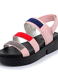 cheap -Women's Shoes Sandals Spring Summer Fall Comfort Leatherette Office & Career Dress Casual Creepers Hook & Loop Blushing Pink Green Black