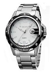 cheap -Men's Fashion Watch Chinese Calendar / date / day / Water Resistant / Water Proof / Noctilucent Alloy Band Silver