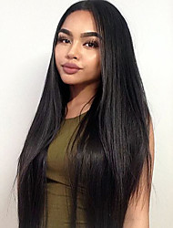 cheap -Synthetic Lace Front Wig Straight Synthetic Hair Natural Hairline Black Wig Women's Long Lace Front Wig
