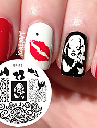 cheap -Marilyn Monroe Pattern Nail Art Stamp Template Image Plate BORN PRETTY Nail Stamping Plates BP15 Nail Art Decoration