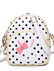 Kids Bags PU Shoulder Bag Bowknot for Wedding Event/Party Casual Sports Formal Outdoor All Seasons Blue White Black Blushing Pink