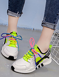 cheap -Women's Athletic Shoes Spring Fall Breathe Freely Casual Comfort All Match Outdoor Athletic Low Heel Lace-up Black White Walking