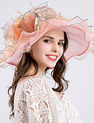 abordables -Mujer Primavera Verano Bonito Casual Poliéster Hilo Sombrero Playero Sombrero para el sol