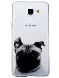 For Samsung Galaxy A3 (2016) A5 (2016) Case Cover Dog Pattern High Transparent TPU Material IMD Craft Mobile Phone Case  A3 (2017) A5 (2017)