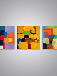 cheap -Stretched Canvas Print Abstract Modern, Three Panels Canvas Horizontal Print Wall Decor Home Decoration