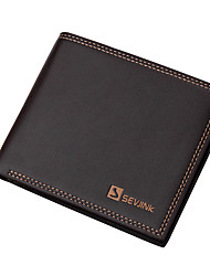 cheap -Men Bags PU Wallet Rivet for Casual Formal Outdoor Office & Career All Seasons Black Coffee