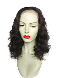 cheap -18 inch Lace Front Wig Curly Synthetic Wigs New Style Black Color For Women