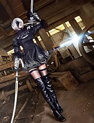 abordables -Inspirado por Cosplay Cosplay Animé Disfraces de cosplay Trajes Cosplay Retazos Manga Larga Para Hombre Mujer