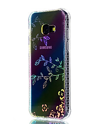 preiswerte -Hülle Für Samsung Galaxy A5(2017) A3(2017) Stoßresistent Beschichtung Durchscheinend Muster Rückseite Blume Weich TPU für A3 (2017) A5