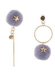 Women's Drop Earrings Jewelry Circular Unique Design Mismatch Religious Jewelry Multi-ways Wear Africa Carved Elegant Flannelette Alloy