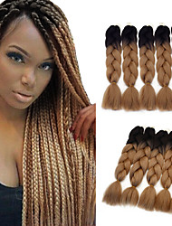 cheap -Braiding Hair Jumbo Hair Braids 24.4inch(Approx.62cm) Party / Synthetic / Ombre Braiding Hair Special Occasion / Halloween