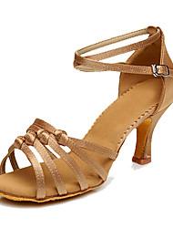 abordables -Femme Chaussures Latines Synthétique Talon Talon Personnalisé Personnalisables Chaussures de danse Marron / Bleu / Chair / Intérieur