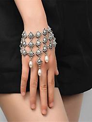 abordables -Mujer Pulseras del filamento Perla artificial Moda Hecho a mano Perla Artificial Legierung Forma Geométrica Joyas Para Ocasión especial1