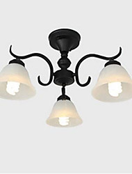 cheap -European ed ron art reative lack lass estaurant tairs allway edroom Chandelier