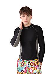 abordables -Homme Anti Irritation Protection UV contre le soleil, SPF30, Séchage rapide Spandex Manches Longues Tenues de plage Tee-shirts anti-UV,