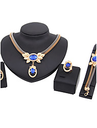 Women's Jewelry Set Necklace/Bracelet Bridal Jewelry Sets Rhinestone Classic Fashion Euramerican Wedding Party Special Occasion Halloween