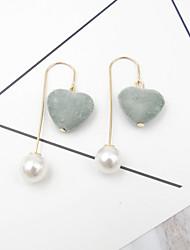 Drop Earrings Imitation Pearl Euramerican Fashion Alloy Heart Jewelry 1 Pair