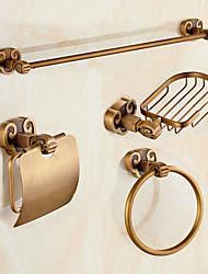 Set d'Accessoires de Salle de Bain / Laiton Antique Antique