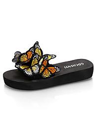 Women's Sandals Spring Summer Fall Comfort Fabric Casual Flat Heel Flower