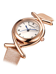cheap -Women's Fashion Watch Quartz Alloy Band Black White Blue Pink Rose Gold