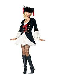 Pirate Costumes de Cosplay Féminin Halloween Fête / Célébration Déguisement d'Halloween Noir/Blanc Mode