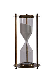 cheap -Nordic Retro Metal High-grade Alloy Iron Hourglass Timer Glass Ornament TV Cabinet Hotel Cafe Decoration