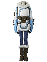 Inspired by Overwatch Ace Video Game Cosplay Costumes Cosplay Suits Polka Dot Long Sleeves Coat Pants Headpiece Gloves Belt More