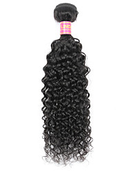 cheap -Indian Hair Kinky Curly / Curly Weave Virgin Human Hair Natural Color Hair Weaves Human Hair Weaves Natural Black