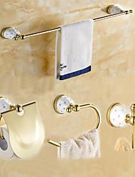 Set de Accesorios de Baño / Dorado Contemporáneo