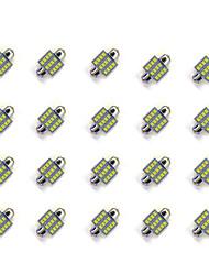 Недорогие -20pcs 31mm 12 * 2835 smd вело свет электрической лампочки автомобиля dc12v
