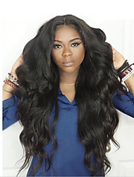 cheap -Human Hair Lace Front Wig Body Wave 360 Frontal 180% Density 100% Hand Tied African American Wig Natural Hairline Short Medium Long
