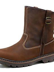 cheap -Unisex Shoes Nappa Leather Fall Comfort / Cowboy / Western Boots / Riding Boots Boots Light Brown / Fashion Boots / Motorcycle Boots