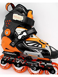 Unisex Inline Skates Adjustable White/Orange
