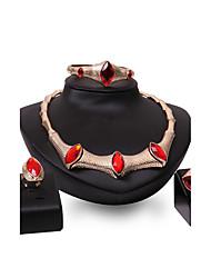 Women's Jewelry Set Rhinestone Synthetic Ruby Fashion Vintage Personalized Euramerican Statement Jewelry Synthetic Gemstones Rhinestone