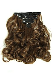 cheap -Hairpiece 17inch 160g 16 Clips 7pcst Synthetic Hair Extension Long Wavy Hair Clip In Hair Extensions Heat Resistant D1016 2/30#