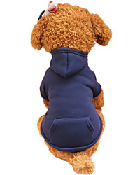 cheap -Holdhoney Dog Hoodie  Red/Dark Blue/Fuchsia/Pink/Green/Coffee/Gray Dog Clothes Spring/Fall Solid Fashion #LT15050289