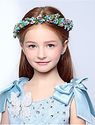 cheap -Satin Paper Headbands Flowers Wreaths 1 Wedding Special Occasion Casual Outdoor Headpiece