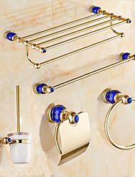 Недорогие -Набор аксессуаров для ванной Современный Золотой Крепится к стене