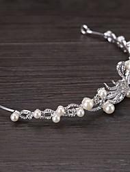 imitación de perlas de aleación de diamantes de imitación perla tiaras pelo pincho estilo elegante
