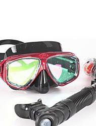 Máscaras de mergulho Snorkels Impermeável Protecção Mergulho e Snorkeling Neopreno Fibra de Vidro