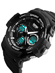 cheap -SKMEI 1247 Men's Woman Watch Double Significant Outdoor Sports Watch Mountain Climbing Waterproof Electronic Watch Male LCD Students Multi - Function
