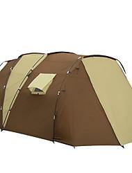 Недорогие -7 человек Туристическая палатка-хижина Семейный кемпинг-палатка На открытом воздухе Дожденепроницаемый Двухслойные зонты Палатка Двухкомнатная для Походы Путешествия