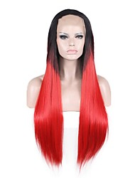 Natural Wig Black Red Wig for Women Costume Wigs Cosplay Lace Front Wig
