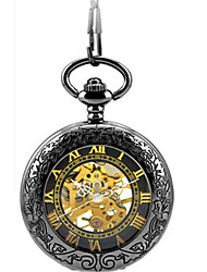 cheap -Men's Mechanical Watch Pocket Watch Skeleton Watch Automatic self-winding Casual Watch Alloy Band Elegant Black